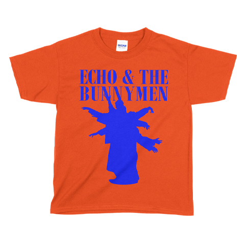 Echo And The Bunnymen Silhouette Orange Kids T-Shirt