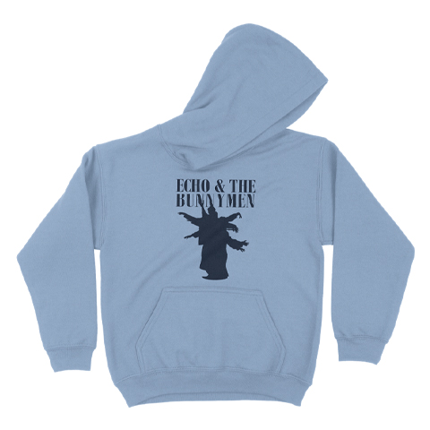 Echo And The Bunnymen Silhouette Blue Kids Pullover Hoodie