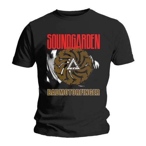 Soundgarden Badmotor Finger Black T-Shirt